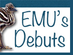 Emu's Debuts blog badge