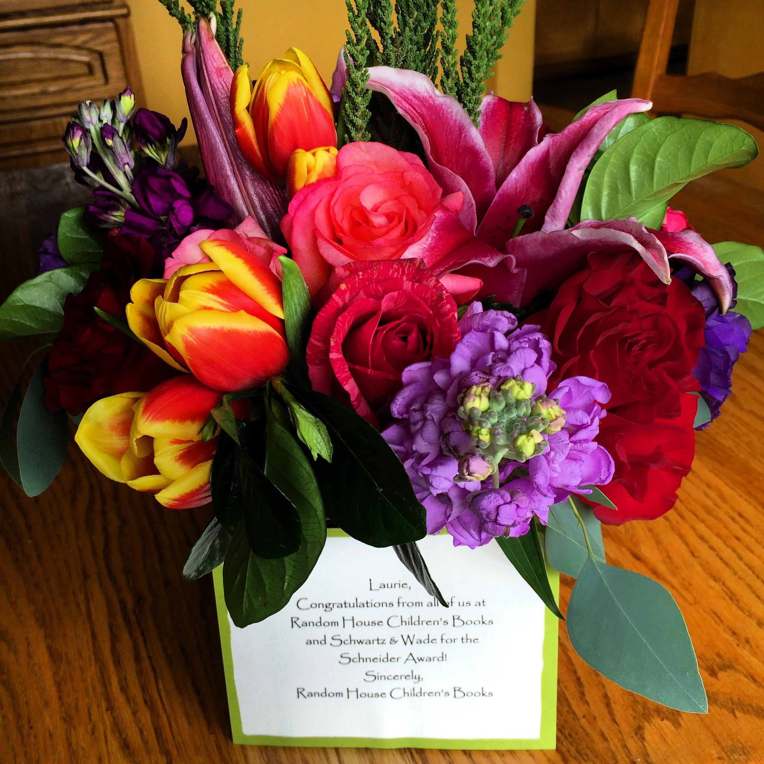 Schneider Award flowers