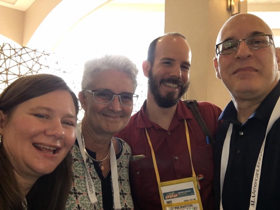 Me, Nancy Day, Chris Barton, and Peter Salomon